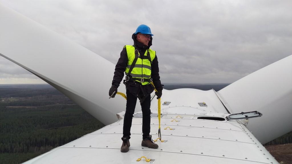 120 meter över marken med utsikt över Astrid Lindgrens land.